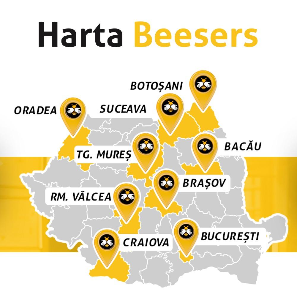 Oraşele în care este disponibil Beesers